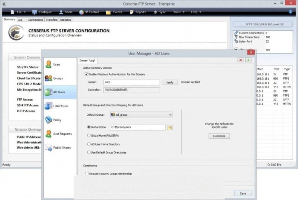 Cerberus FTP Server Enterprise latest version