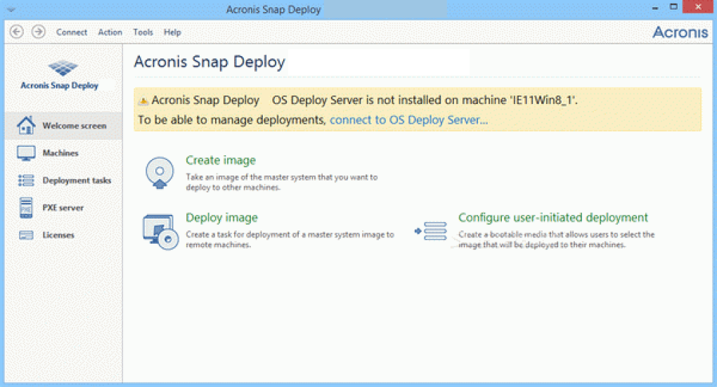 Acronis Snap Deploy latest version