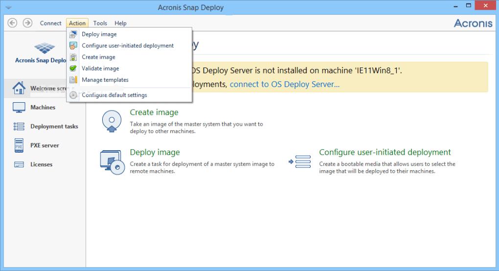 Acronis Snap Deploy windows