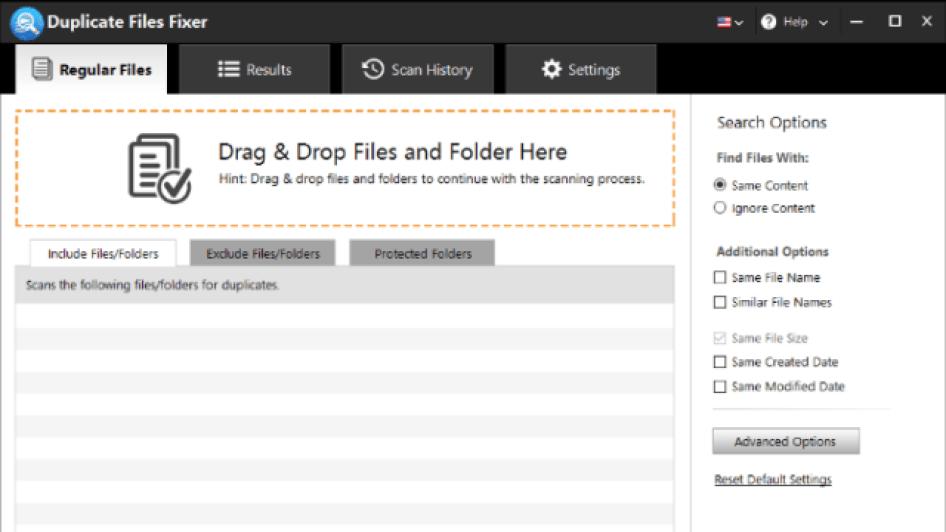 Duplicate Files Fixer windows
