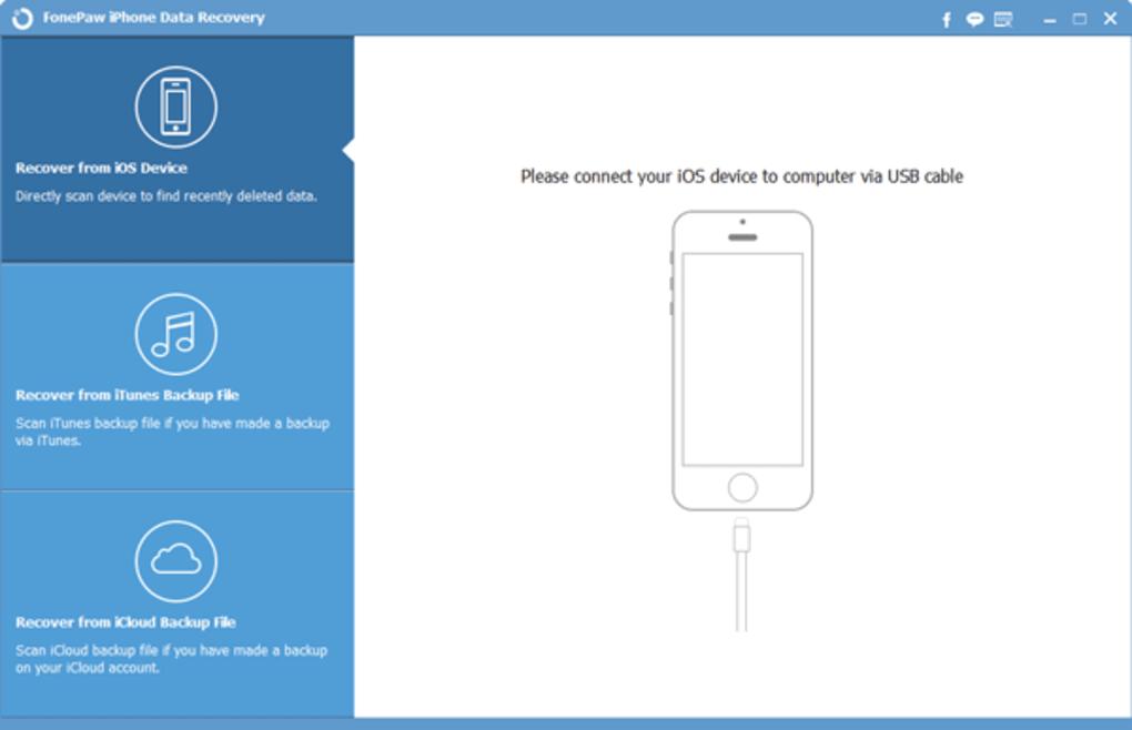 FonePaw IPhone Data Recovery windows