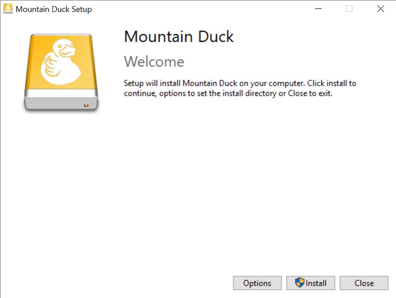 Mountain Duck windows