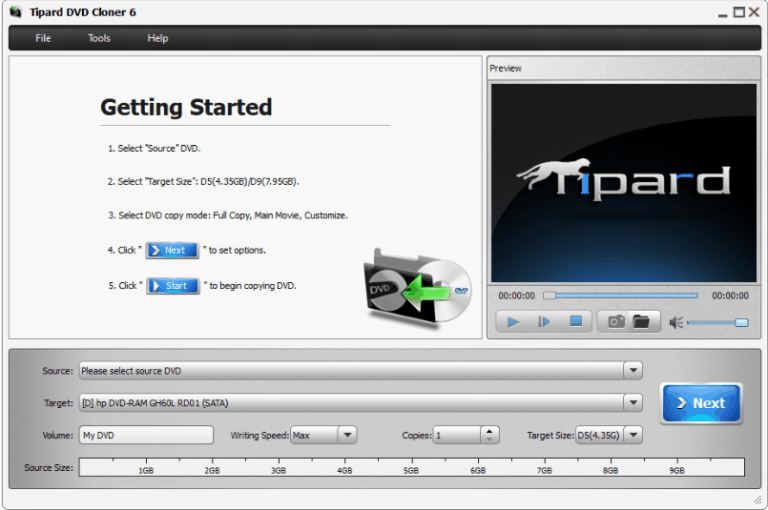 Tipard DVD Cloner windows