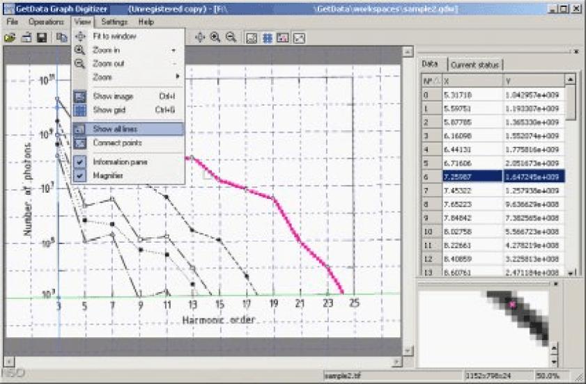 GetData Graph Digitizer windows