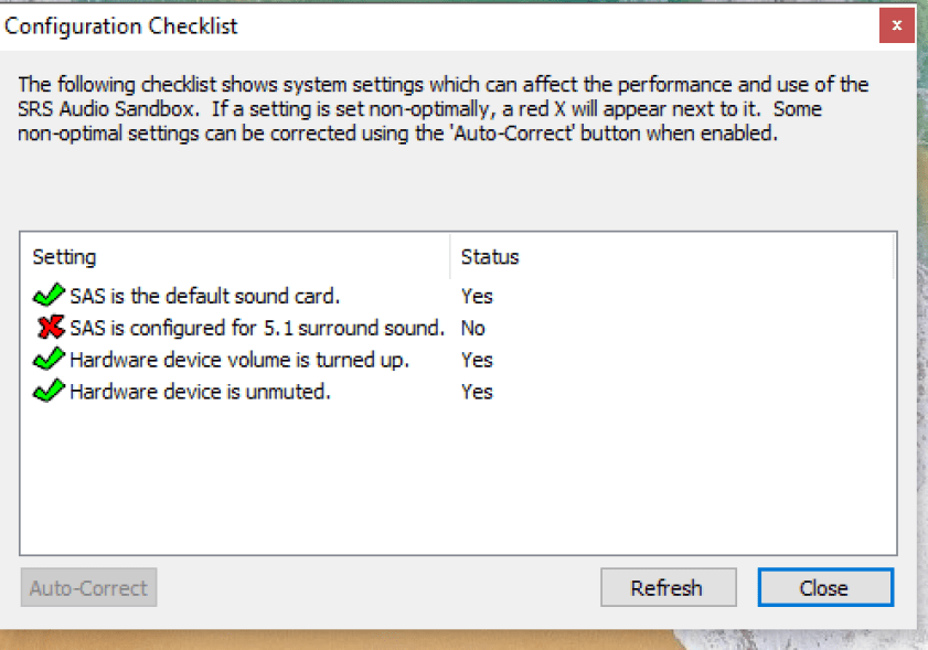 SRS Audio SandBox windows