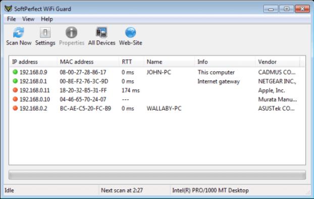 SoftPerfect WiFi Guard windows