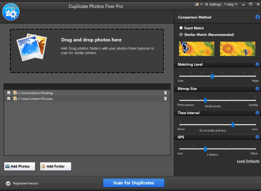 Duplicate Photos Fixer Pro windows