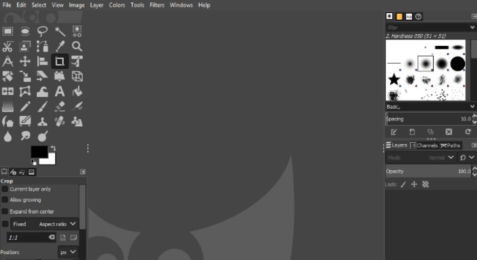 GIMP windows