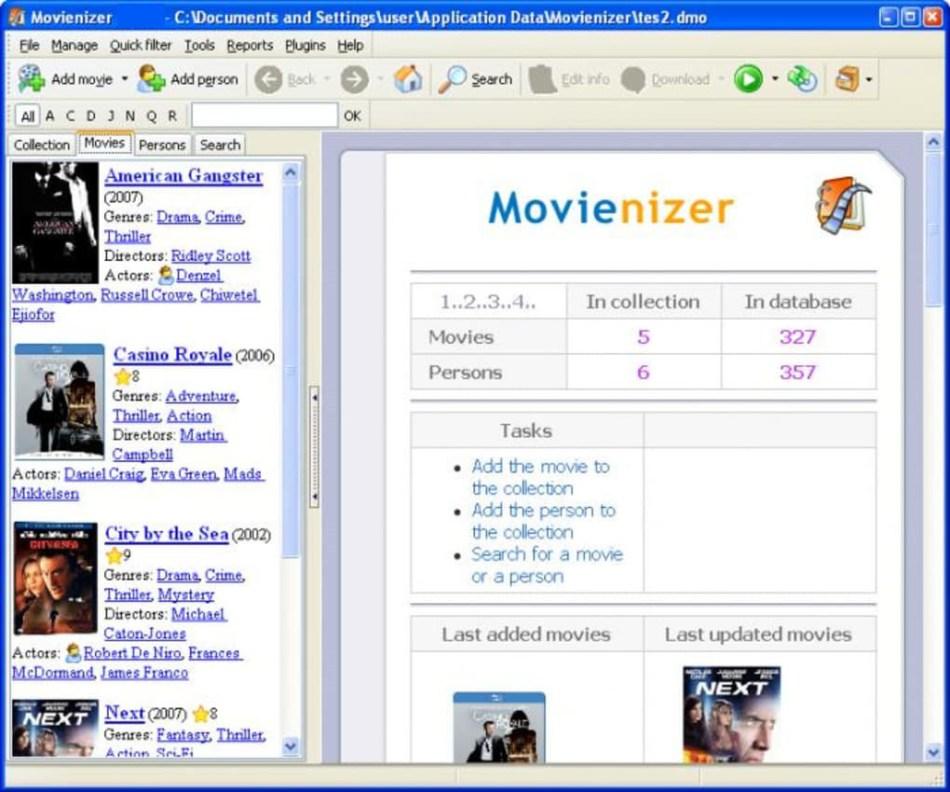 Movienizer latest version