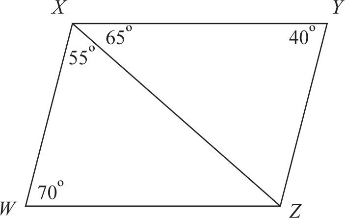 SSAT Upper Level Math: Quadrilaterals Practice Test 25