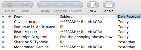junk mail names