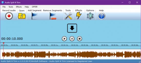 PcWinSoft Audio Split & Trim 2.5.5.50