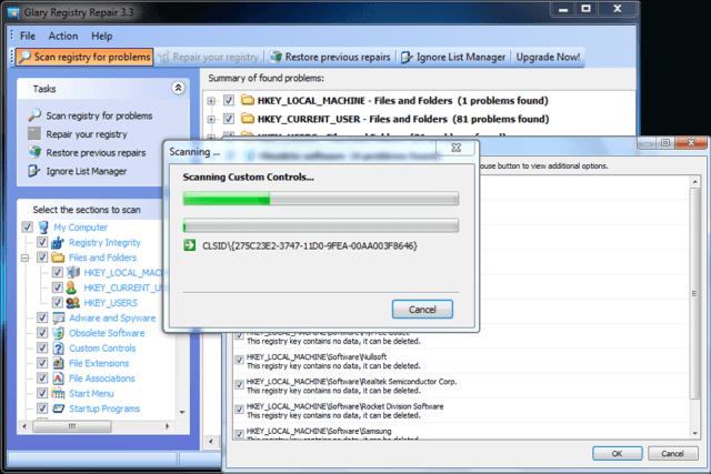 glary-registry-repair-crack-interface