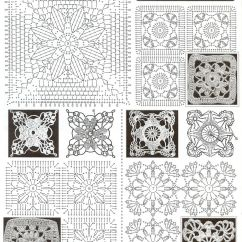 Diagram For Granny Square Crochet Stitch Tv Antenna Rotor Wiring So Cute Lace Dress Of Flower Squares