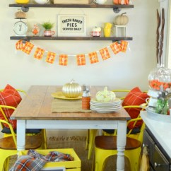 Fall Kitchen Decor Different Color Cabinets Plaid Craft O Maniac Decor13