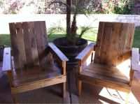 Backyard Deck DIY Pallet Chairs