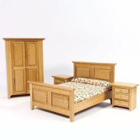 Country Dolls House Bedroom Furniture Set, 4437