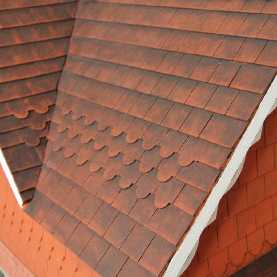 Dolls House Roof Tiles  Slate Strips x12 Roof Tiles