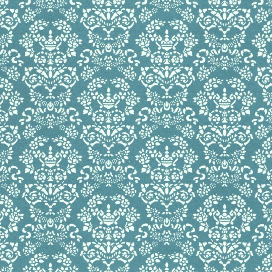 Renaissance Dolls House Wallpaper White On Blue Diy279wb Bromley Craft