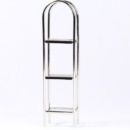 Chrome and Glass Shelf Unit, H25