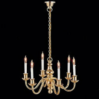 6 Arm Dolls House Chandelier Light Lt8004