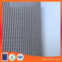 Gray Color Textilene 2x1 Mesh Fabric Pvc Coated Polyester