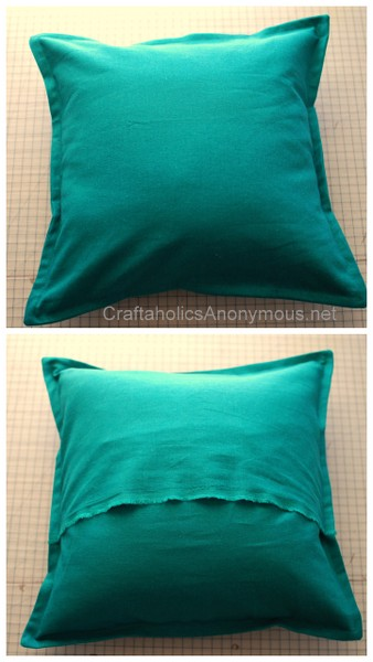 craftaholics anonymous how to sew a pillow cover