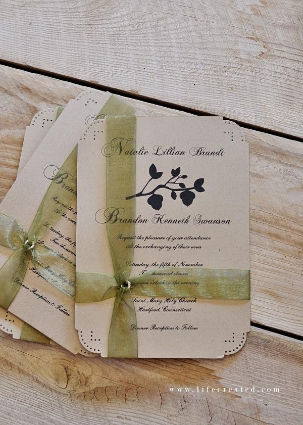 Craftaholics Anonymous  10 Tips for making DIY Wedding Invitations