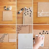 Craftaholics Anonymous | DIY Cork Board Frame and Organizer