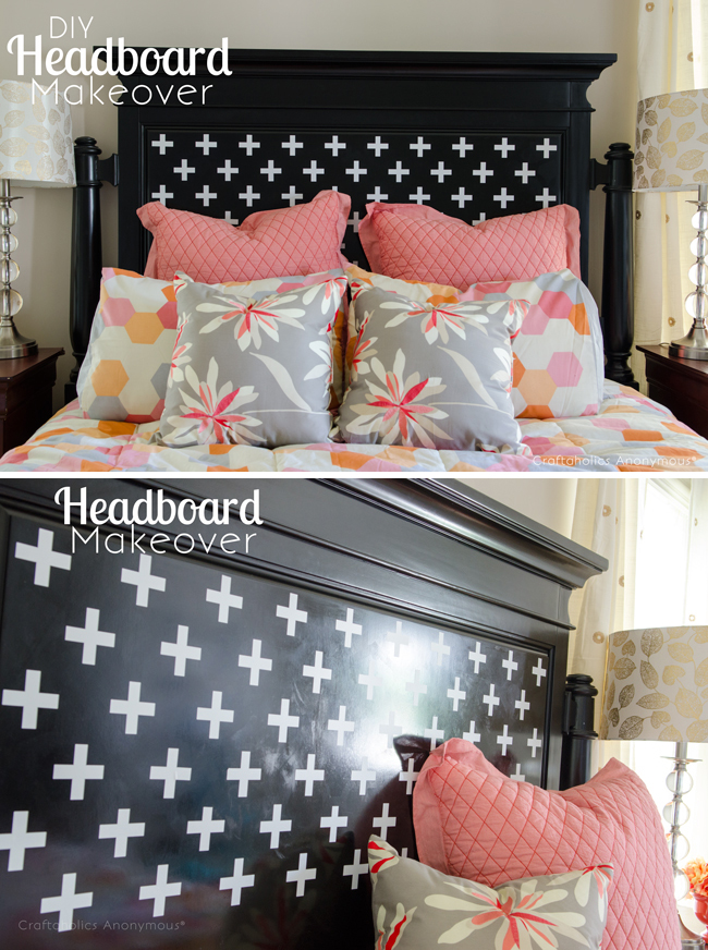 Craftaholics Anonymous  Headboard Makeover with Silhouette CAMEO