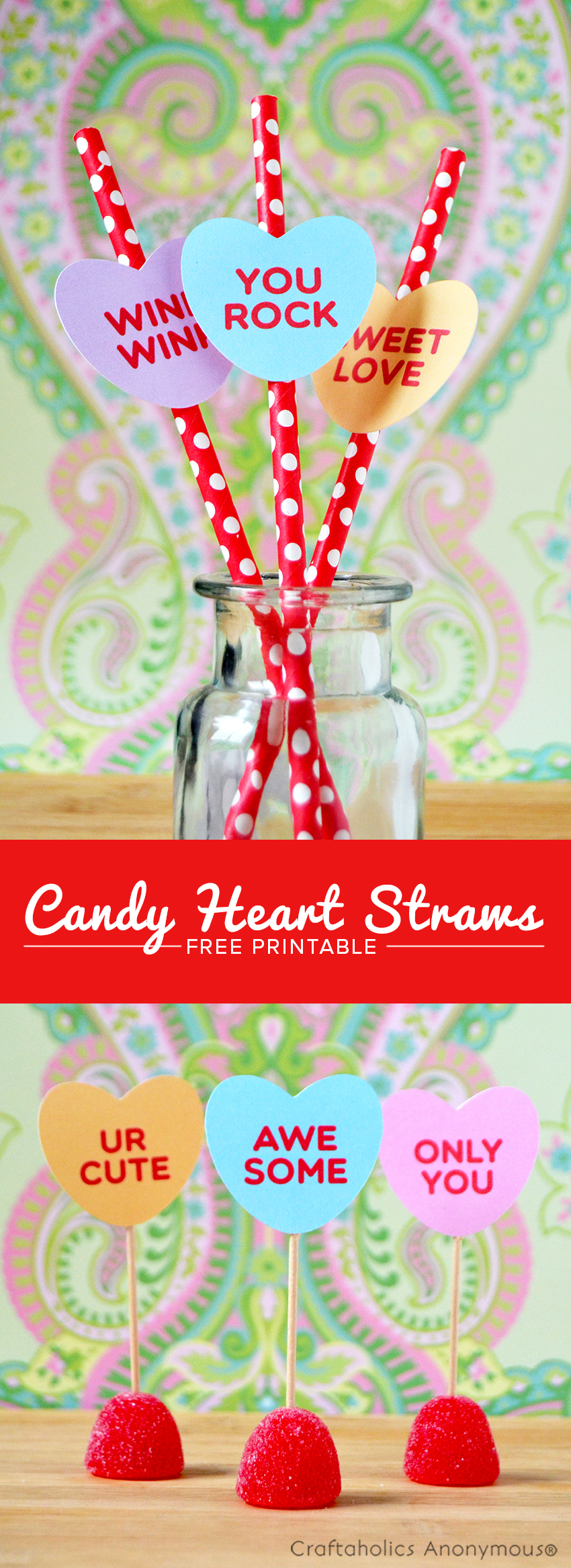 Craftaholics Anonymous Free Candy Hearts Printable And