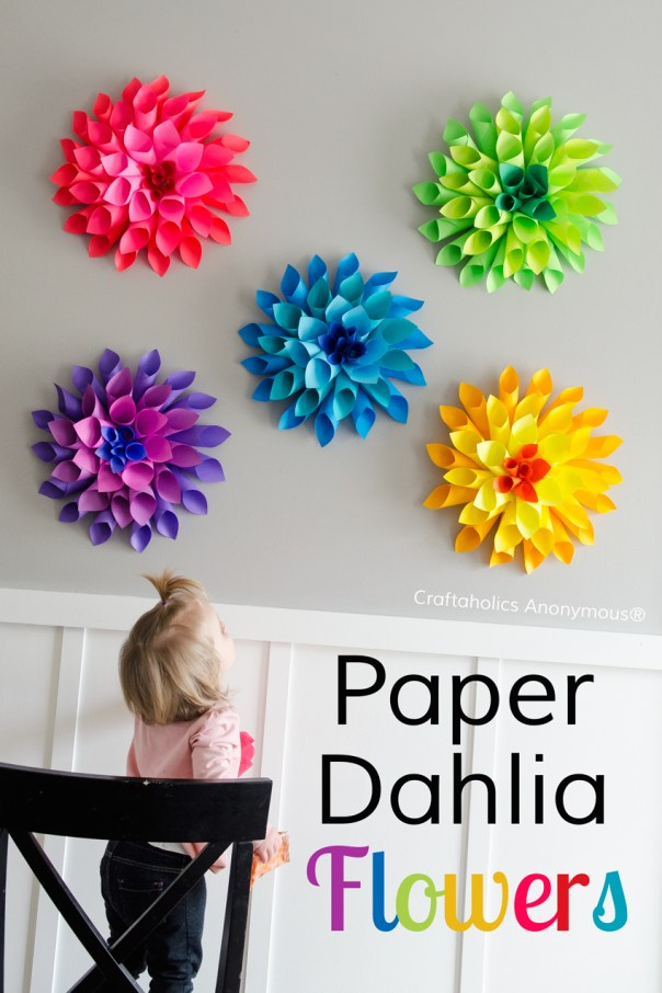 spring crafts for kids paper flowers