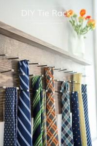 Craftaholics Anonymous | DIY Tie Rack Tutorial