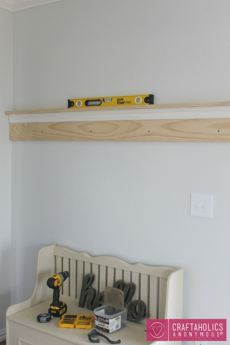 Craftaholics Anonymous Diy Shelf And Coat Rack
