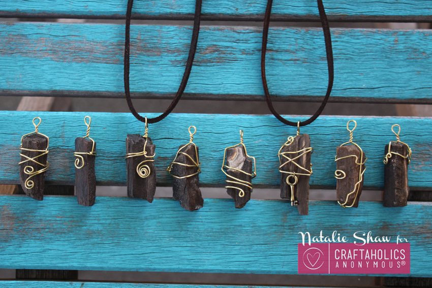 Craftaholics Anonymous Wire Wrapped Pendants