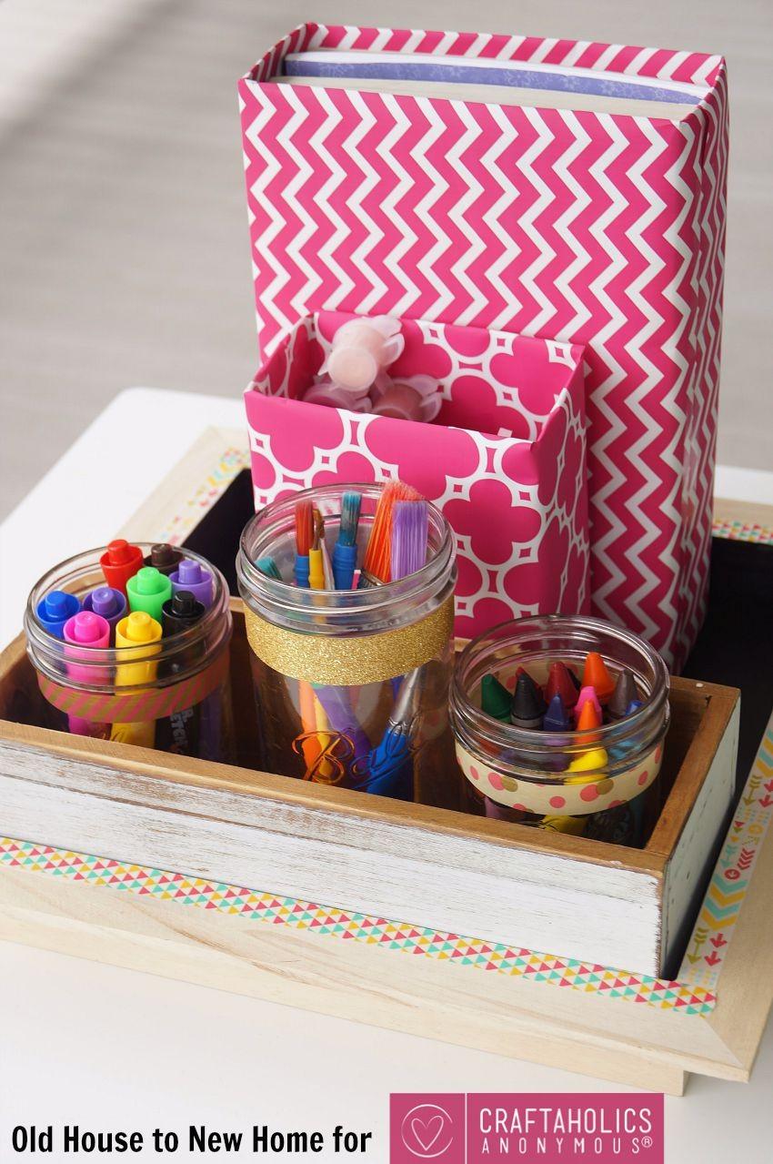 Craftaholics Anonymous  Back to School Supplies Organizer