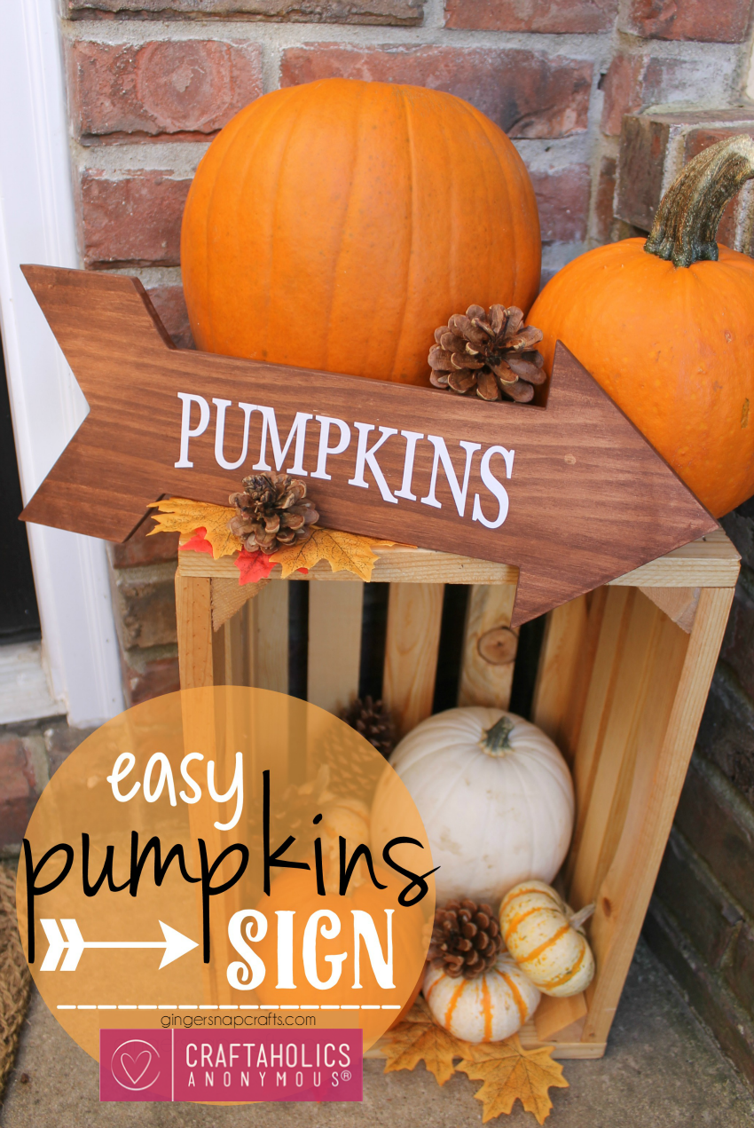 Craftaholics Anonymous  Easy Fall Craft Pumpkins Arrow Sign