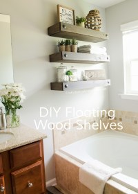 Craftaholics Anonymous | DIY Floating Shelves