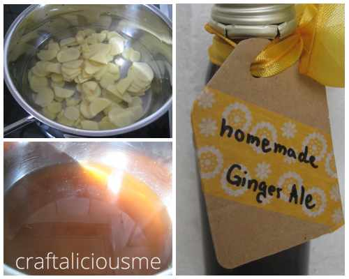 homemade ginger ale summer drink