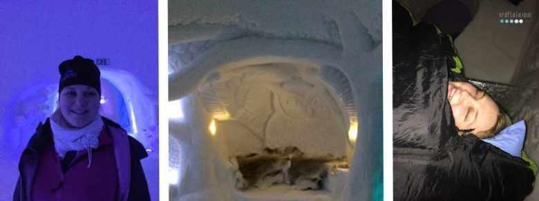 ice hotel sleeping