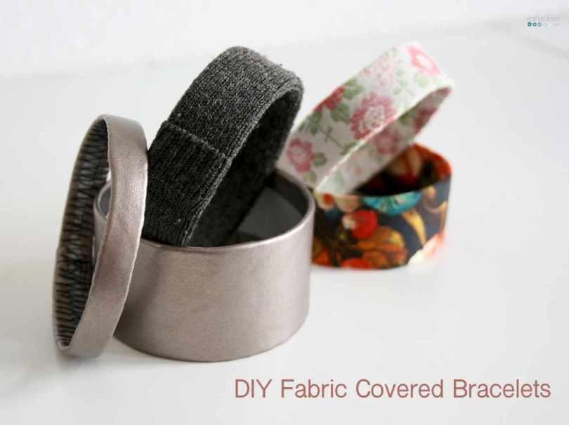 DIY fabric covered bracelets