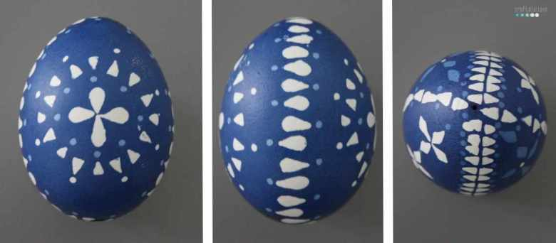 sorbian easter egg 2 colored blue by craftaliciousme