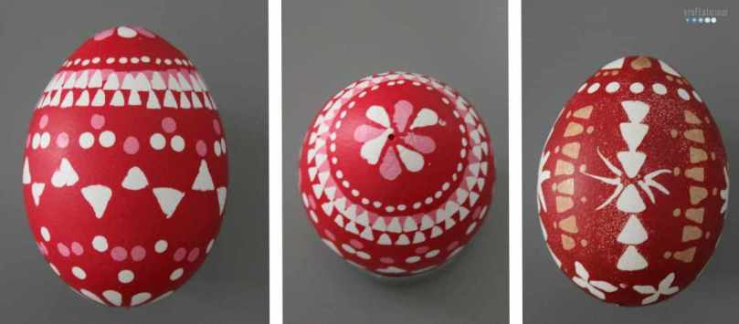 sorbian easter egg 2 colored red by craftaliciousme