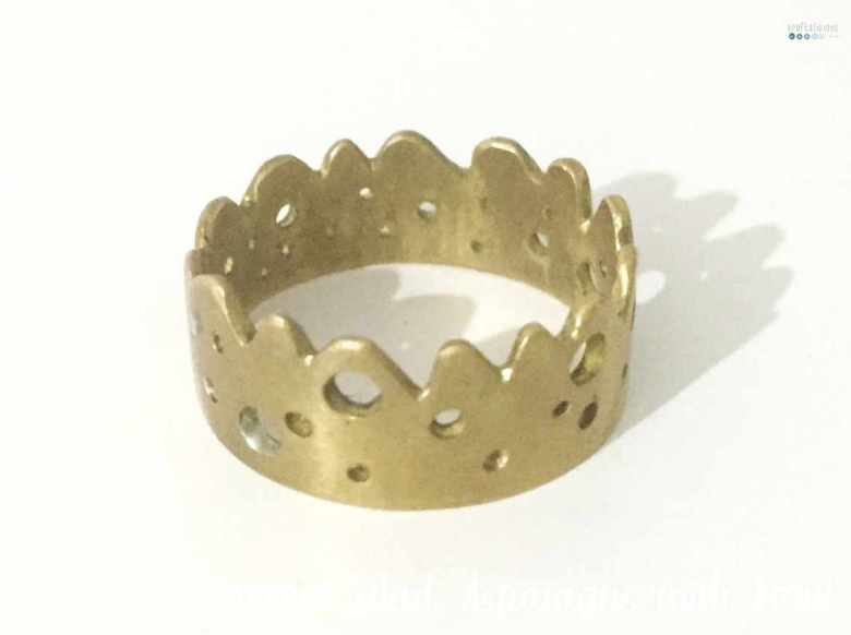 handmade crown ring