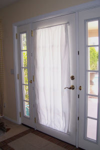 Free Curtain Pattern For Metal Door With Magnetic Curtain Rod