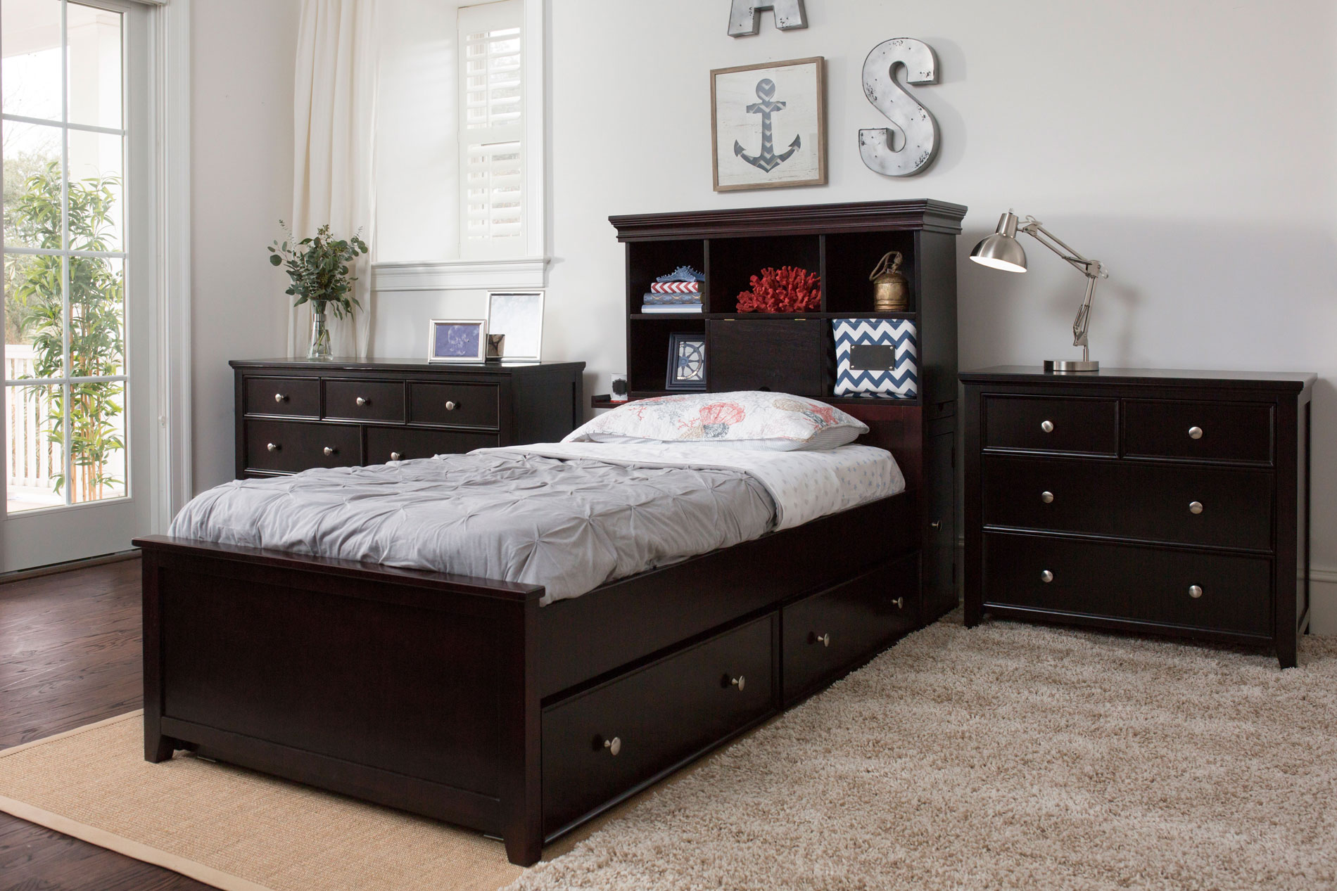 High Quality Hardwood Bedroom Furniture for Teens  Youth