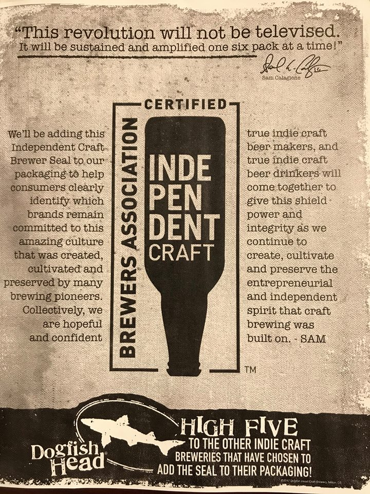 Dogfish Head Independent Craft Brewer Seal Ad
