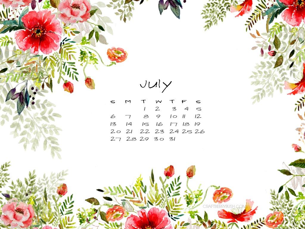 Cute Anime Wallpaper Organizer July Free Desktop Calendar Better Late Than Never