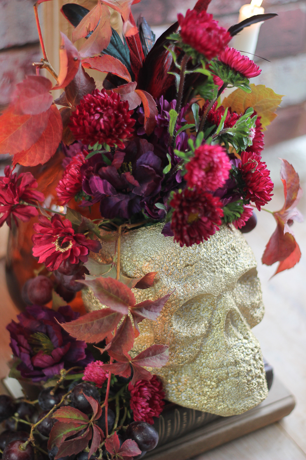 Foam Skull Floral Centerpiece DIY