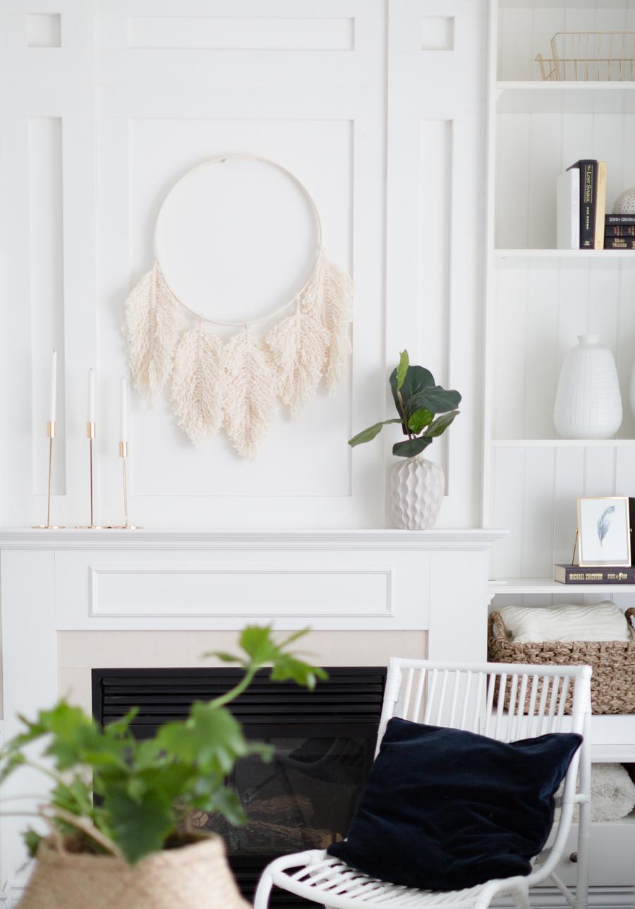 Macrame Feather Wreath DIY